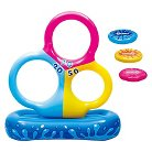 Tri-Hoop Disc Toss Pool Game