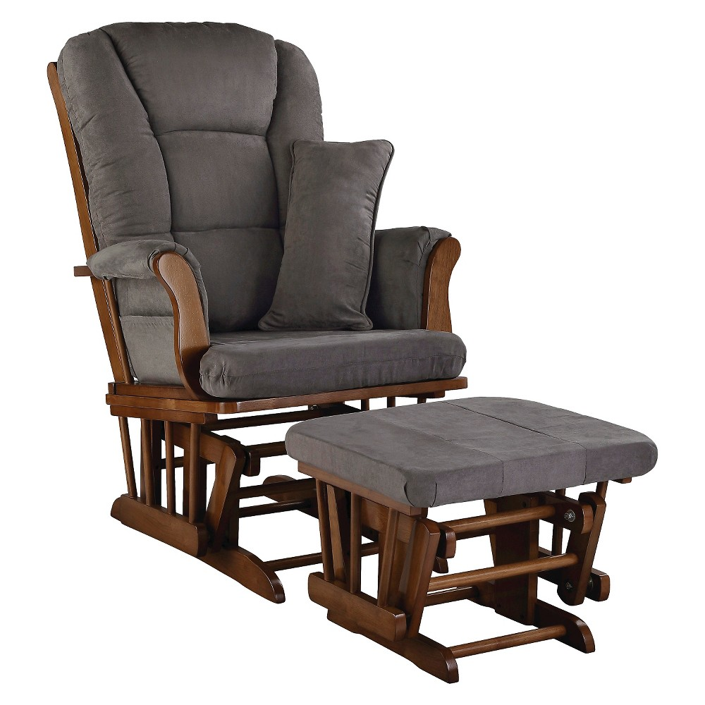 Glider and ottoman set stork craft tuscany dove brown for Stork craft glider reviews