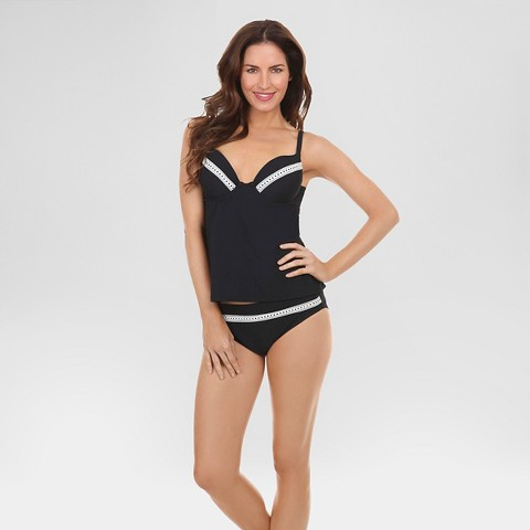 women 39 s push up cup sized underwire tankini blac target. Black Bedroom Furniture Sets. Home Design Ideas