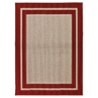 Mohawk Tufted Sisal Area Rug - Red (5'x7')