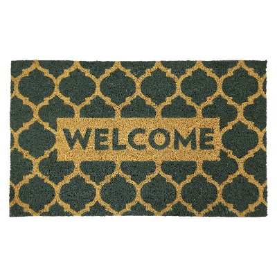 "Lattice Welcome Doormat - Blue - 1'6""x2'6"" - Threshold™"