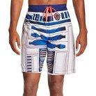 Men's R2D2 Star Wars Swim Trunks Grey S