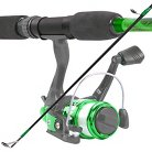 Trademark Global South Bend Worm Gear Fishing Rod and Spinning Reel Combo - Green