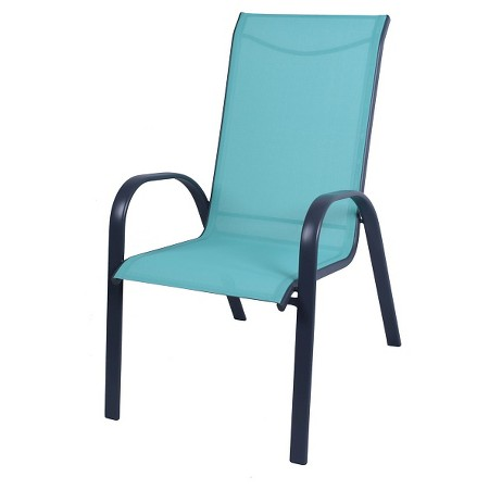 Blue Sling Patio Chair Stack Sling Patio Chair Turquoise - Room Essentials : Target