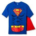 Men's Superman Logo W/Muscles Tee Royal M