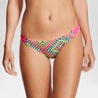 Women's Strappy Bikini Bottom - Yellow Multi Geo Print - M - Xhilaration™