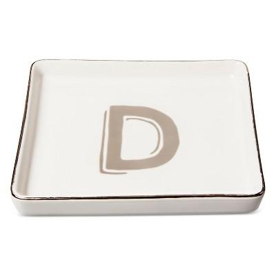 Trinket Dish Monogram D - Threshold™