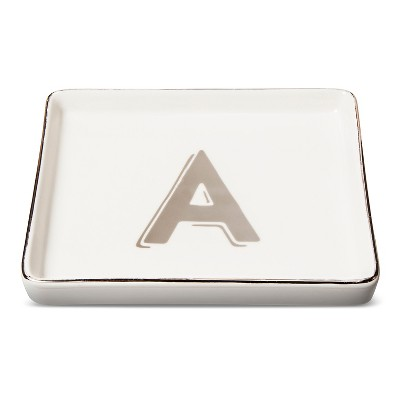 Trinket Dish Monogram A