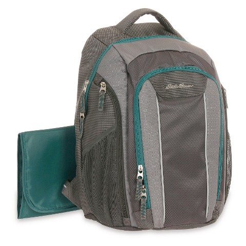diaper bag eddie bauer backpack grey turquoise target. Black Bedroom Furniture Sets. Home Design Ideas