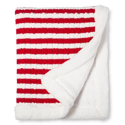 Circo™ Cable Knit Baby Blanket - Holiday Red/White