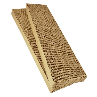 Pet Scratcher Refill Pet Zone Cardboard Brown