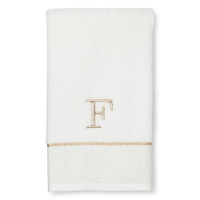 Classic Hand Towel Monogram F - Threshold™