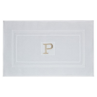 Bath Mat Monogram P White - Threshold™