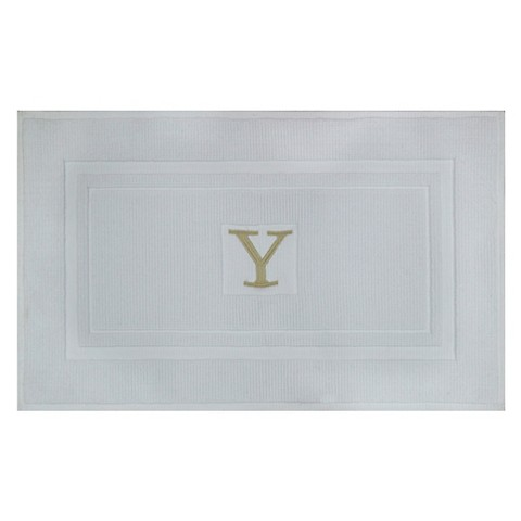 Awesome Bath Mat Monogram White  Threshold Product Details Page
