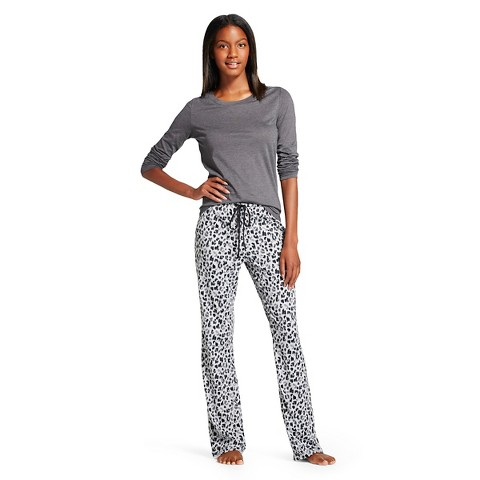 Women's Pajama Set - Grey Leopard - Gilligan & O'Malley®