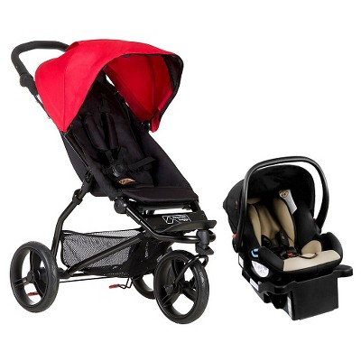 Mountain Buggy Mini Compact Stroller Travel System - Berry