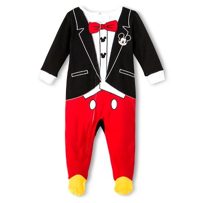 Disney Baby Boys' Mickey Sleeper - Black 12 M