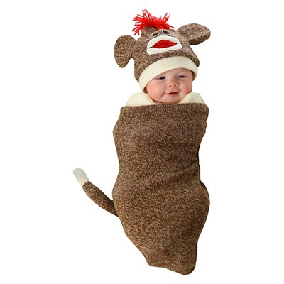 Marv the Monkey Infant Bunting Costume - Brown (0-6 M)