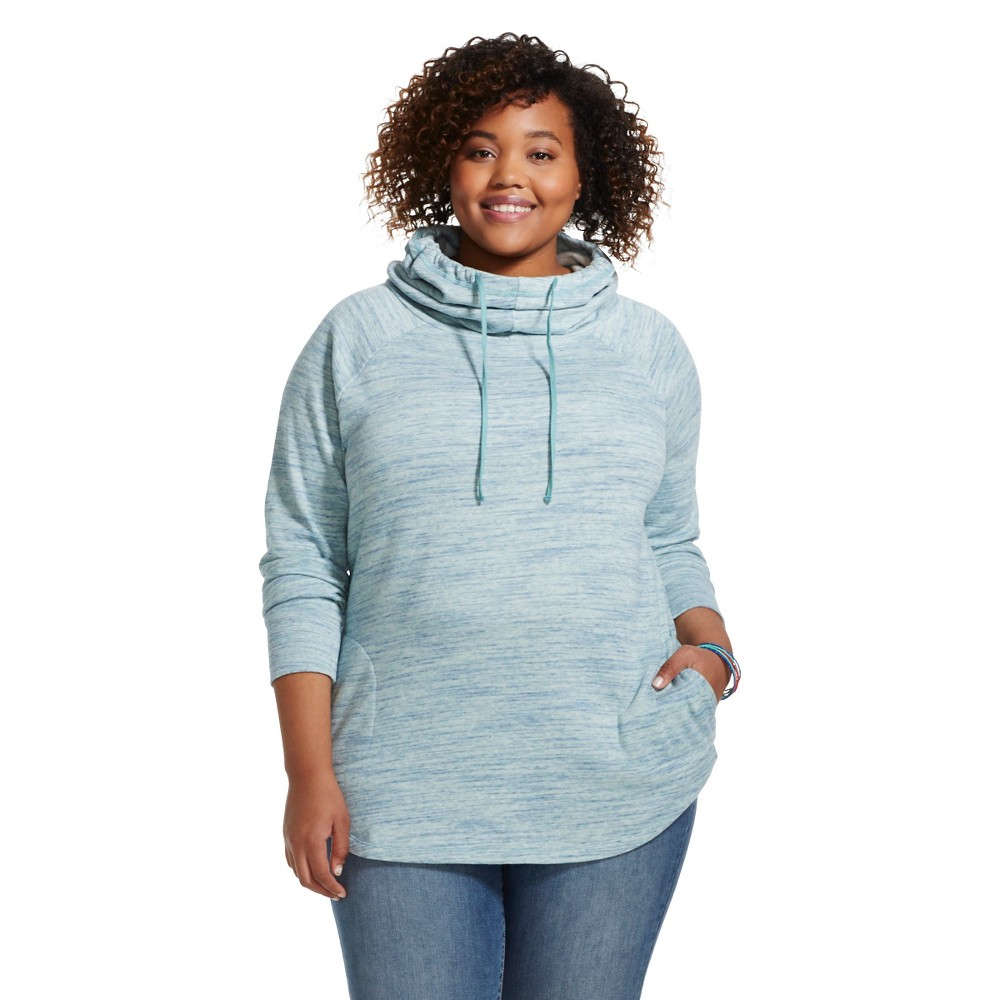 Plus Size Women's Plus Howl Tunic Mint Spacedye  - Mossimo Supply Co, Mint Green