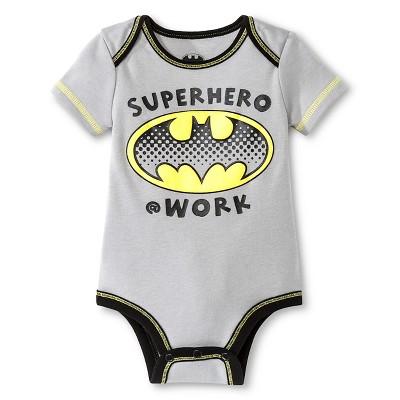 Warner Bros® Batman Boys' Child Bodysuits Grey Newborn