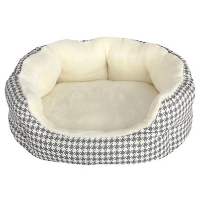 Houndstooth Oval Pet Bed S (20x18) - Boots & Barkley™