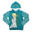Disney® Frozen Girls' Zip-Up Hoodie Turquoise