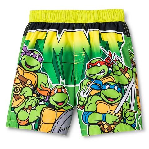 1f9b404952 Toddler Boys' Teenage Mutant Ninja Turtles Swim Trunk - Green ...