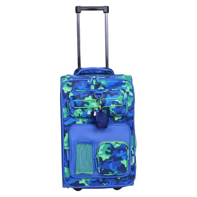 "Crckt Kids 18"" Carry On Luggage - Blue/Green Camo Green"