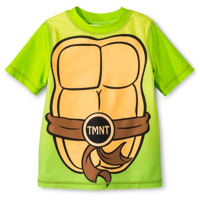 Teenage Mutant Ninja Turtles Toddler Boys' Rash Guard - Green 2T