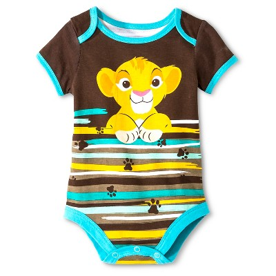 Disney Baby Boys' Simba Bodysuit - Brown 12 M