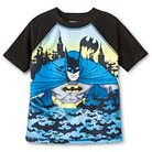 Toddler Boys' Batman Rash Guard - Black/Blue 2T