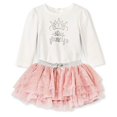 Baby Girl Bodysuit Tutu Set Cherokee - Cream/Pink 0-3M