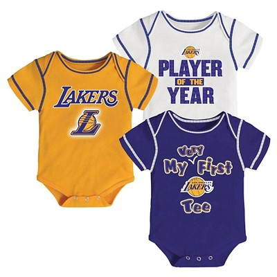 Los Angeles Lakers Infant Body Suits 0-3 M