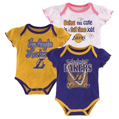 Los Angeles Lakers Girls Infant Body Suit 0-3 M