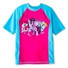 Girls' Hasbro My Little Pony Crew Neck Short Sleeve Rash Guard Apollo Blue
