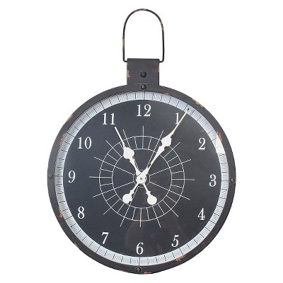 Threshold™ Outdoor Clock - Black