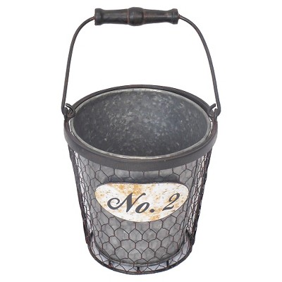 Threshold™ No.2 Galvanized Tabletop Planter with Handle