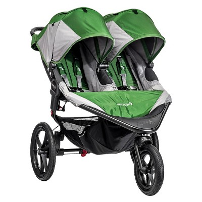 Baby Jogger Summit X3 Double Stroller - Green/Gray