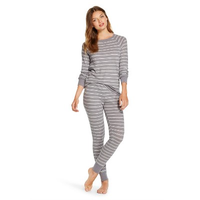 Women's Thermal Pajama Set Heather Gray L - Xhilaration™