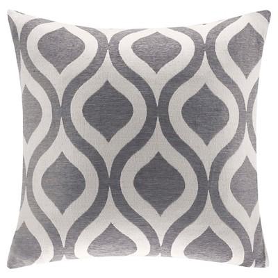 "Mestre Chenille Square Pillow - Grey - 20""x20"""
