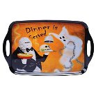 "Certified International Eat, Drink, Be Scary - Melamine Rectangular Tray with Handles - 19"" x 12"""