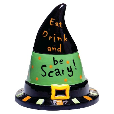"Certified International Eat, Drink, Be Scary - Ceramic 3-D Treat/Cookie Jar - 10"""