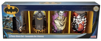 DC Comics Multicolored DC Comics 4pk Pint Set  - Beverate