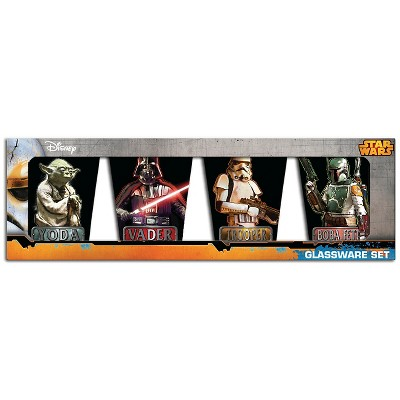 Star Wars Multicolored Star Wars Mini Glass 4 pack