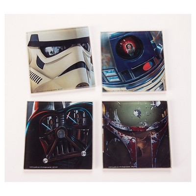 Star Wars Multicolored Star Wars Glass Coaster Set