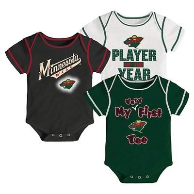 Minnesota Wild Boys' Infant/Toddler 3 pk Body Suit 0-3 M