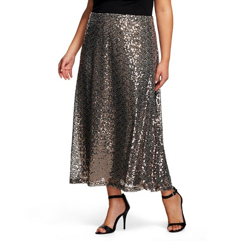 s plus size sequin maxi skirt mossimo su target