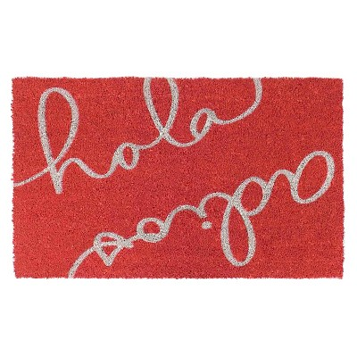 Hola Adios Red Doormat 18x30 - Threshold™