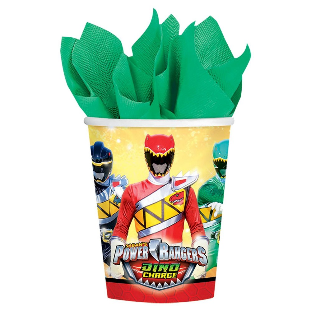 Power Rangers Dino Charge 9oz Paper Cups - 8 count, Green