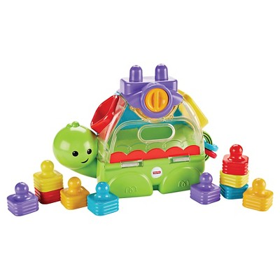 Fisher-Price Little Stackers Sort n' Spill Turtle